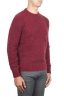 SBU 01472_19AW Red crew neck sweater in boucle merino wool extra fine 02