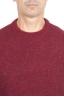 SBU 01472_19AW Pull à col rond rouge en laine mérinos bouclée extra fine 04