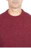 SBU 01472_19AW Red crew neck sweater in boucle merino wool extra fine 04