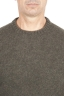 SBU 01473_19AW ブリーメリノウールのグリーンクルーネックセーター 04