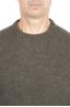 SBU 01473_19AW Pull à col rond vert en laine mérinos bouclée extra fine 04