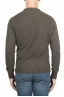 SBU 01473_19AW Green crew neck sweater in boucle merino wool extra fine 05