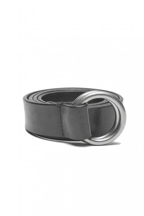 SBU 01232_19AW Ceinture iconic en cuir noir 3 cm 01