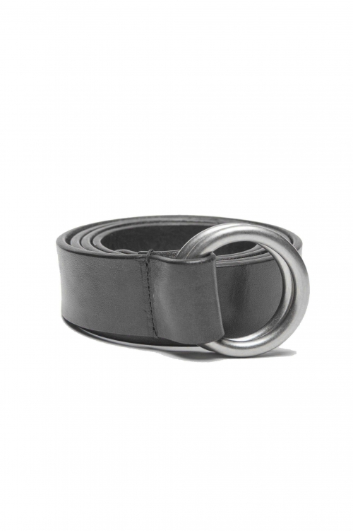 SBU 01232_19AW Iconic black leather 1.2 inches belt 01