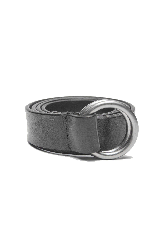 SBU 01232_19AW Iconic black leather 1.2 inches belt 01