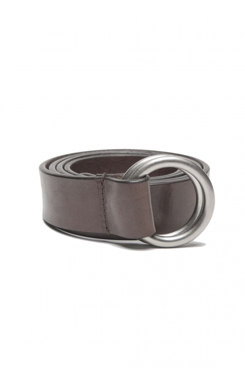 SBU 01233_19AW Iconic brown leather 1.2 inches belt 01