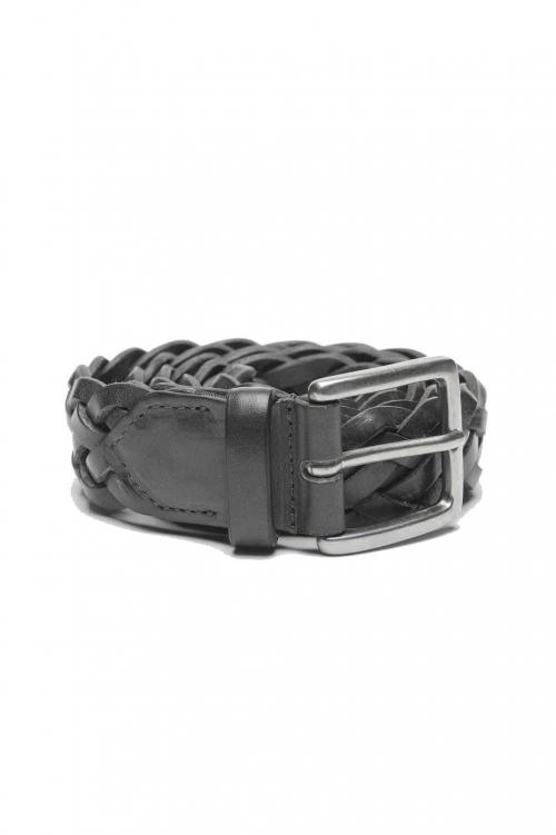 SBU 01235_19AW Cintura classica in pelle nera 3 cm 01