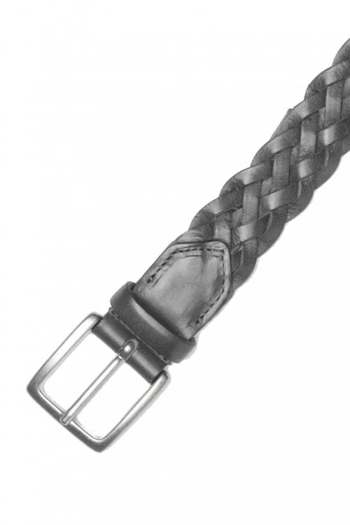 SBU 01235_19AW Clásico cinturón en piel de becerro negro 3 cm 01