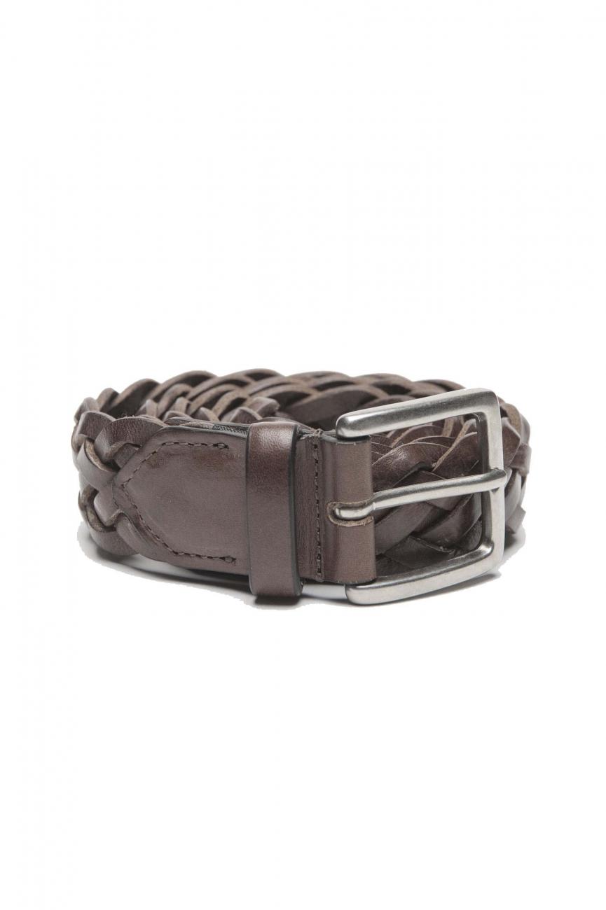 SBU 01236_19AW 茶色のカーフスキンレザーのクラシックベルト3センチ 01