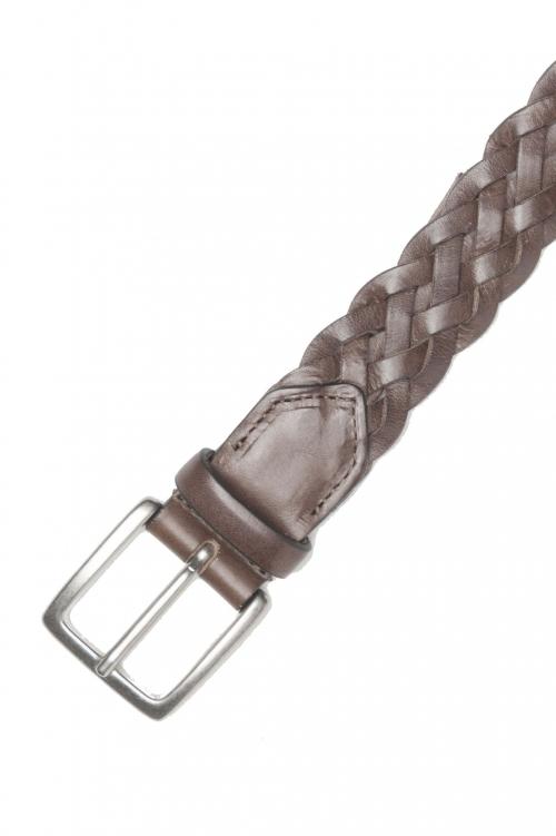 SBU 01236_19AW Cintura classica in pelle marrone 3 cm 01