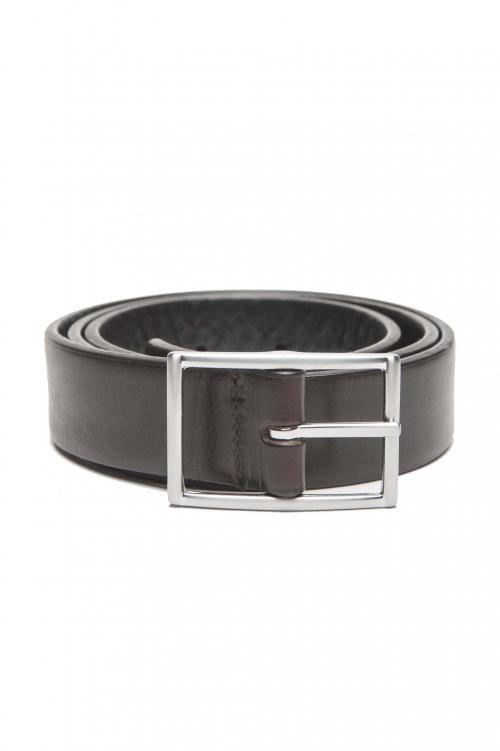 SBU 01246_19AW Cinturòn reversible marrón y negro en cuero 3 cm 01