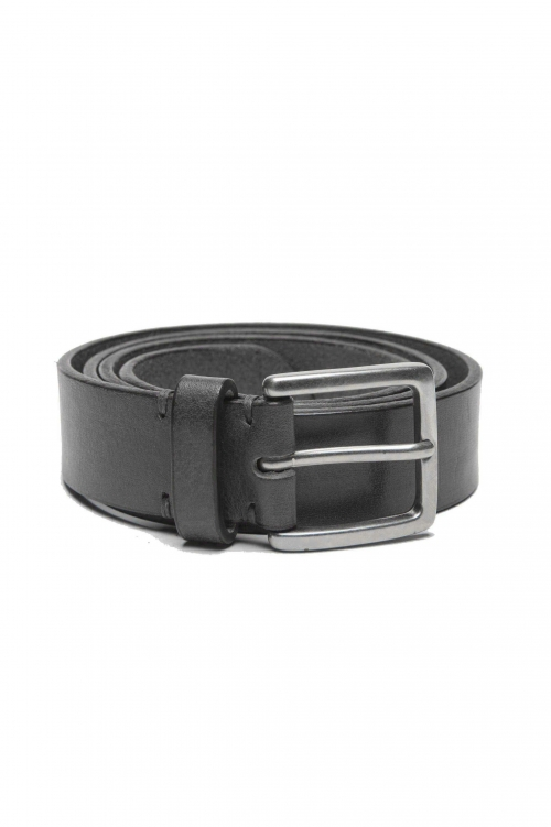 SBU 01247_19AW Classic belt in black calfskin leather 1.2 inches 01