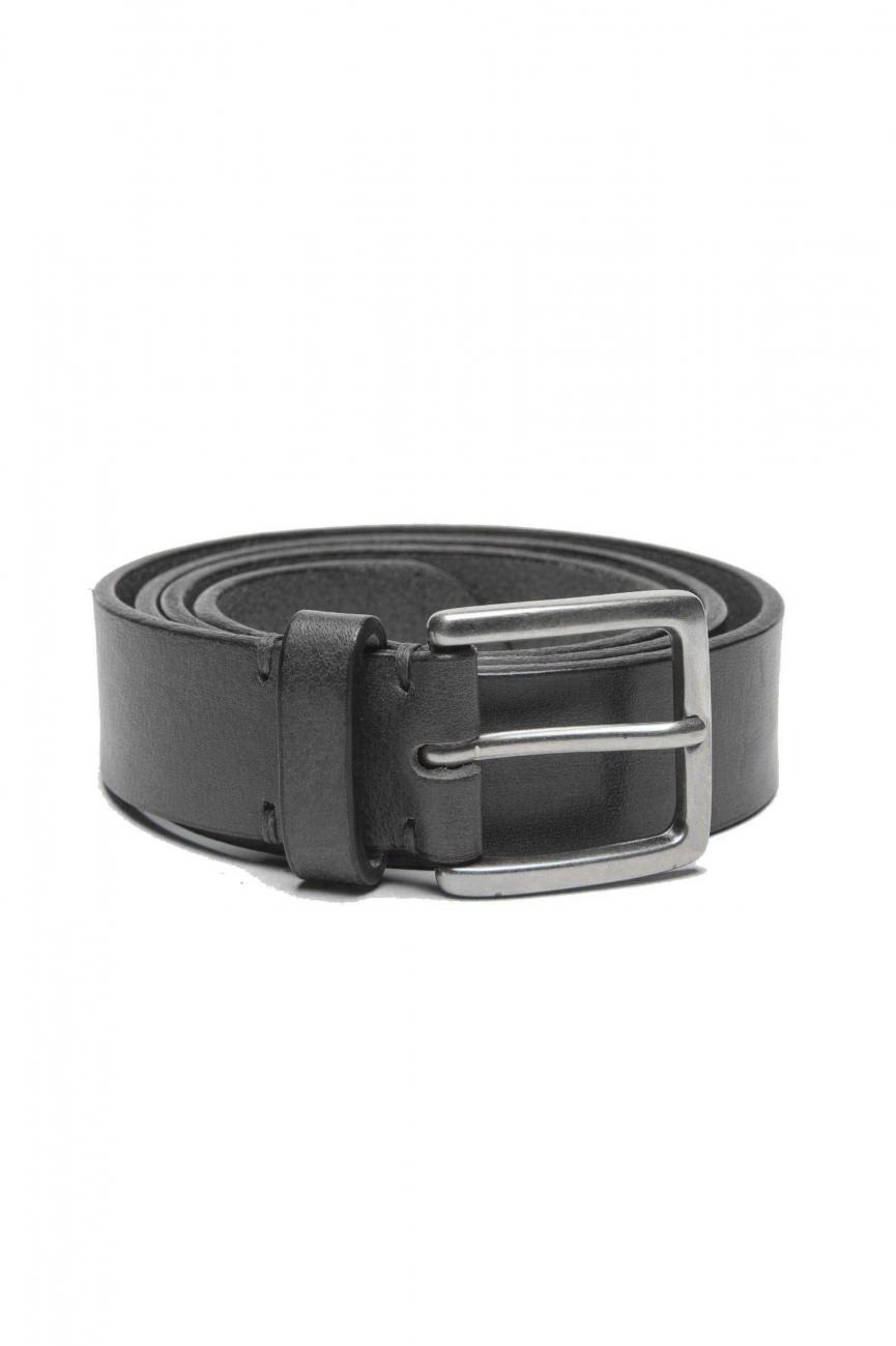 SBU 01247_19AW Classic belt in black calfskin leather 1.2 inches 01