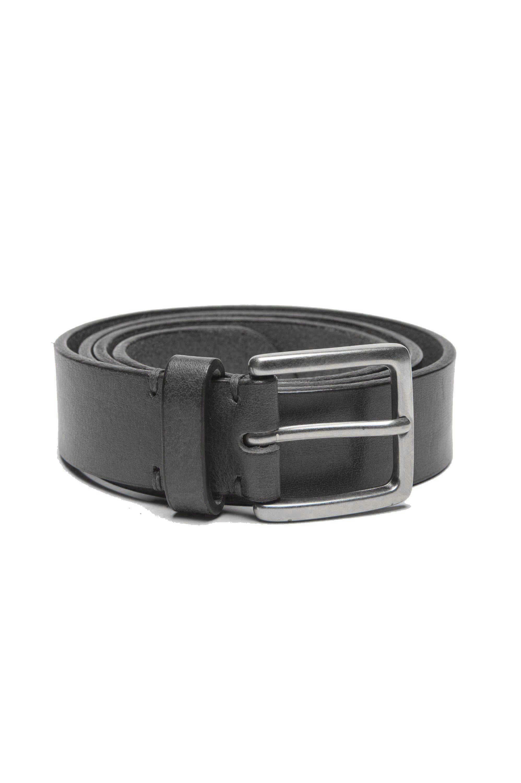 SBU 01247_19AW Cintura classica in pelle nera 3 cm 01