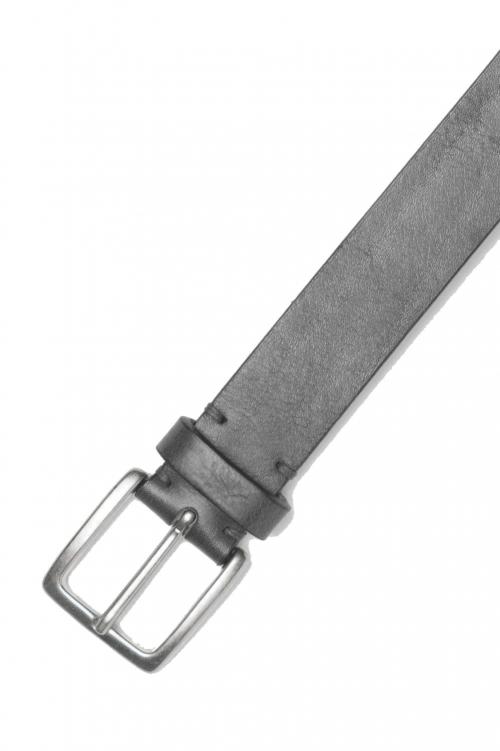 SBU 01247_19AW Clásico cinturón en piel de becerro negro 3 cm 01