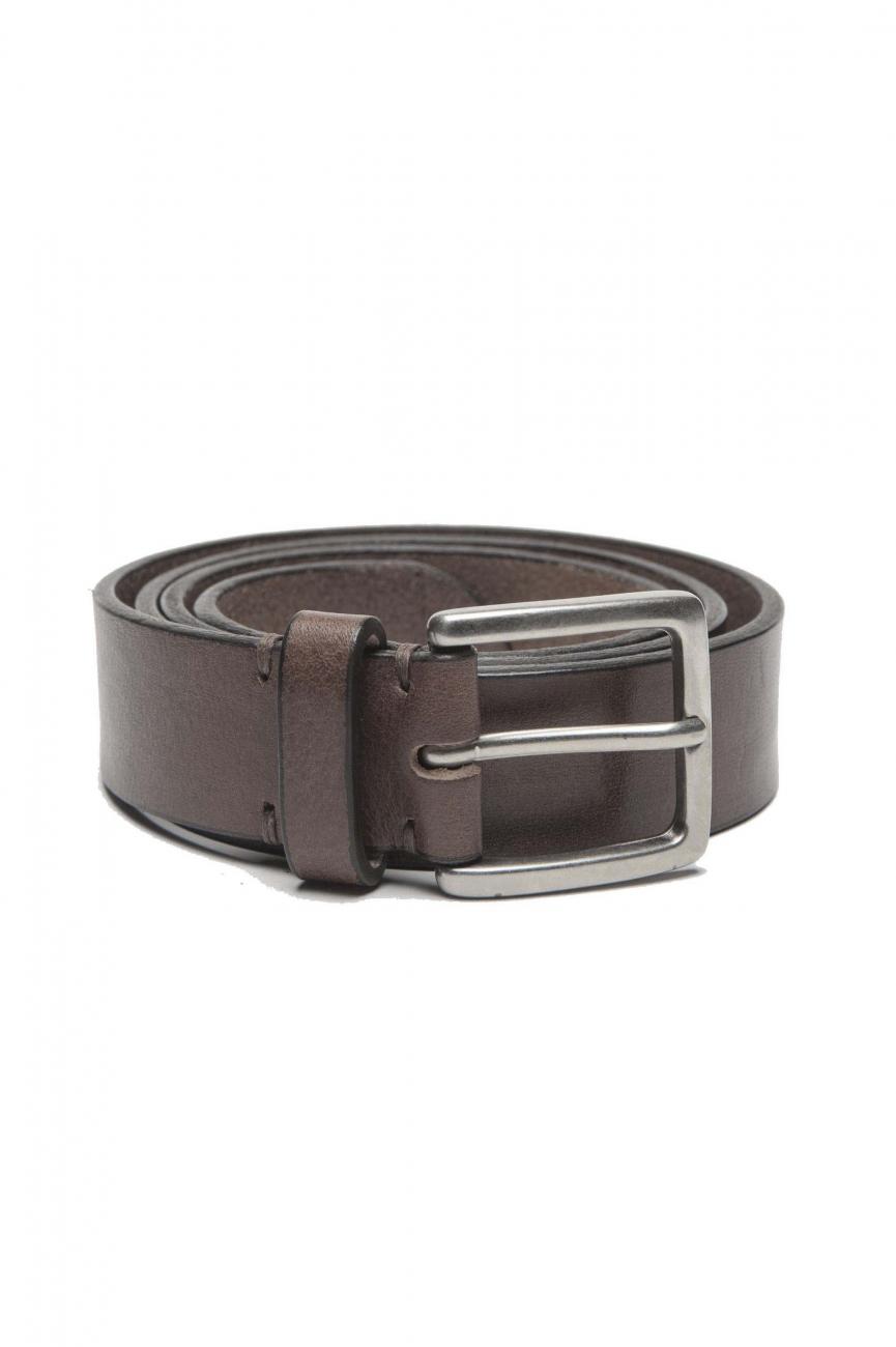 SBU 01248_19AW Clásico cinturón en piel de becerro marrón 3 cm 01