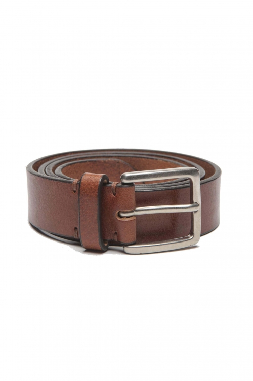SBU 01249_19AW Clásico cinturón en piel de becerro natural 3 cm 01