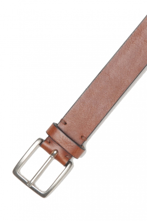 SBU 01249_19AW Classic belt in natural calfskin leather 1.2 inches 01
