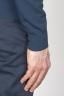 SBU - Strategic Business Unit - Cardigan Classico In Maglia Di Puro Cotone Blue