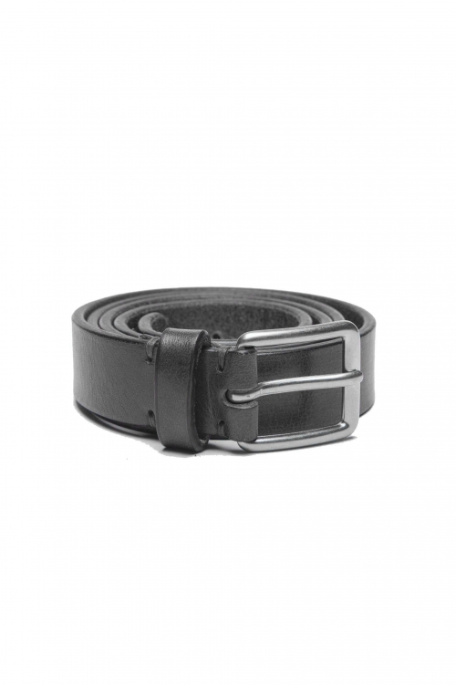 SBU 01250_19AW Classic belt in black calfskin leather 0.9 inches 01