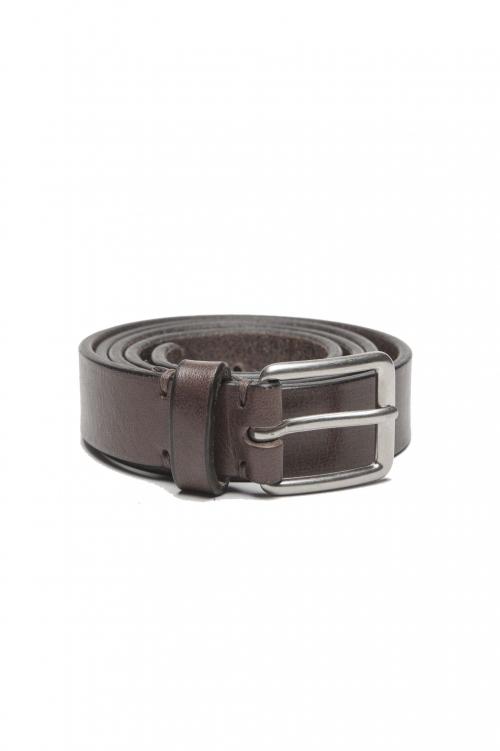 SBU 01251_19AW Cintura classica in pelle marrone 2.5 cm 01