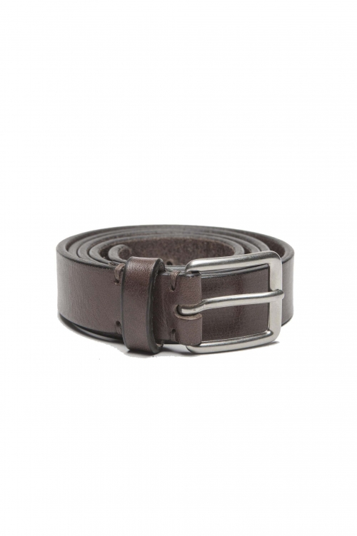SBU 01251_19AW Clásico cinturón en piel de becerro marrón 2.5 cm 01