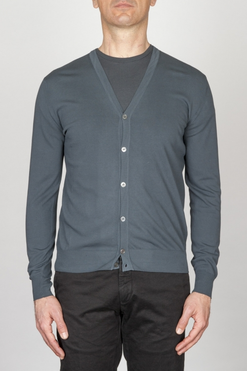 SBU - Strategic Business Unit - Classic Pure Cotton Knit Grey Cardigan