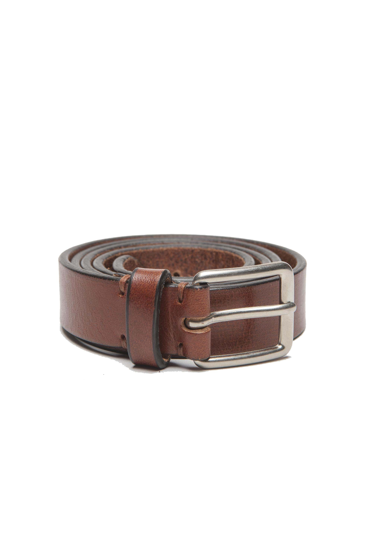 SBU 01252_19AW Clásico cinturón en piel de becerro natural 2.5 cm 01