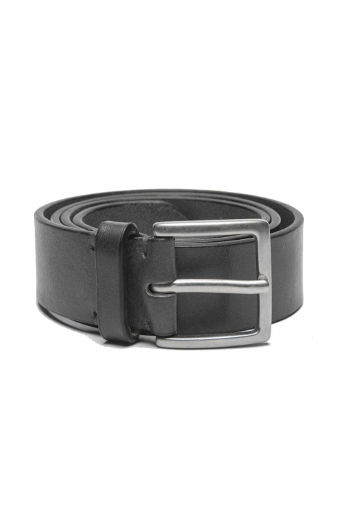 SBU 01253_19AW Classic belt in black calfskin leather 1.4 inches 01