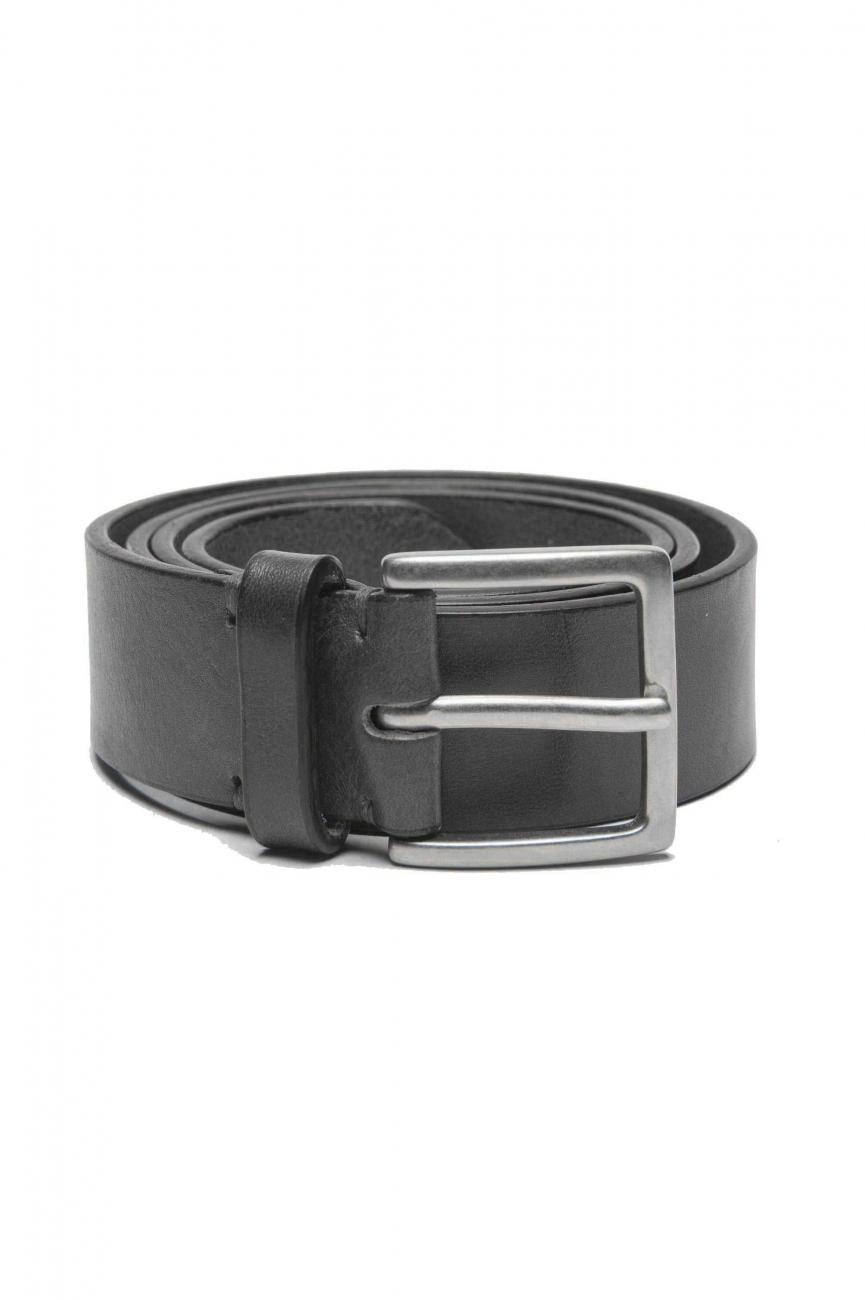 SBU 01253_19AW Cintura classica in pelle nera 3.5 cm 01