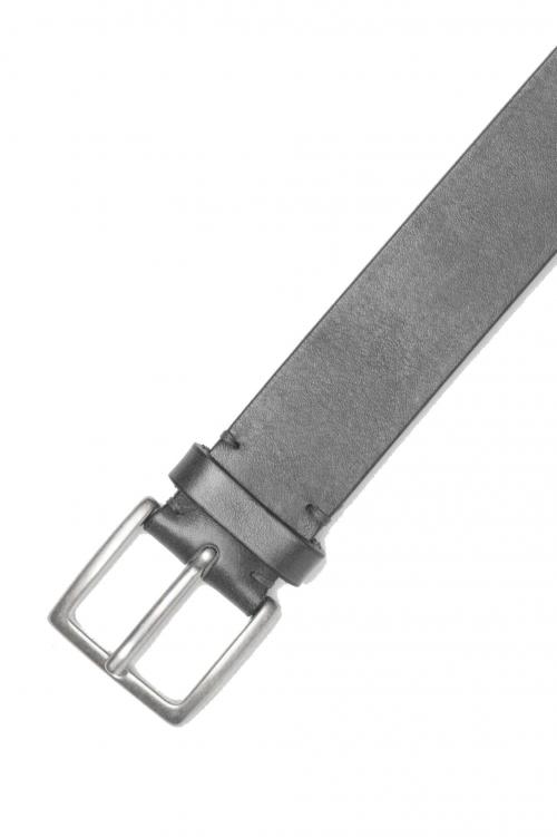 SBU 01253_19AW Clásico cinturón en piel de becerro negro 3.5 cm 01