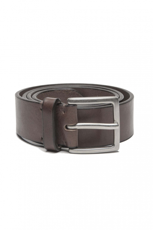 SBU 01254_19AW Clásico cinturón en piel de becerro marrón 3.5 cm 01