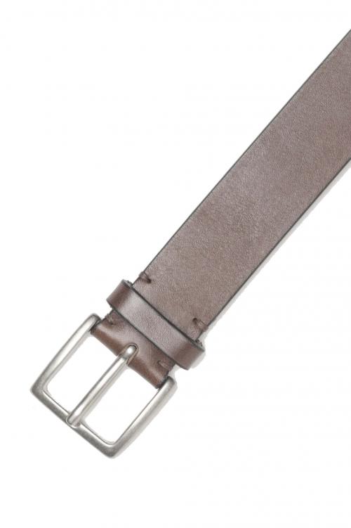 SBU 01254_19AW Cintura classica in pelle marrone 3.5 cm 01