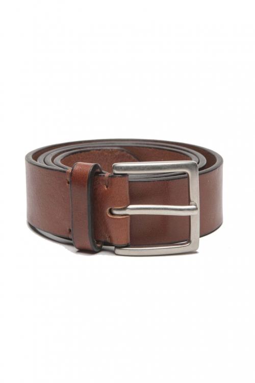 SBU 01255_19AW Cintura classica in pelle naturale 3.5 cm 01