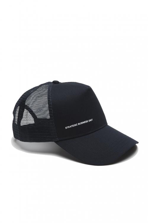 SBU 01790_19AW Trucker cap classico di cotone blu 01