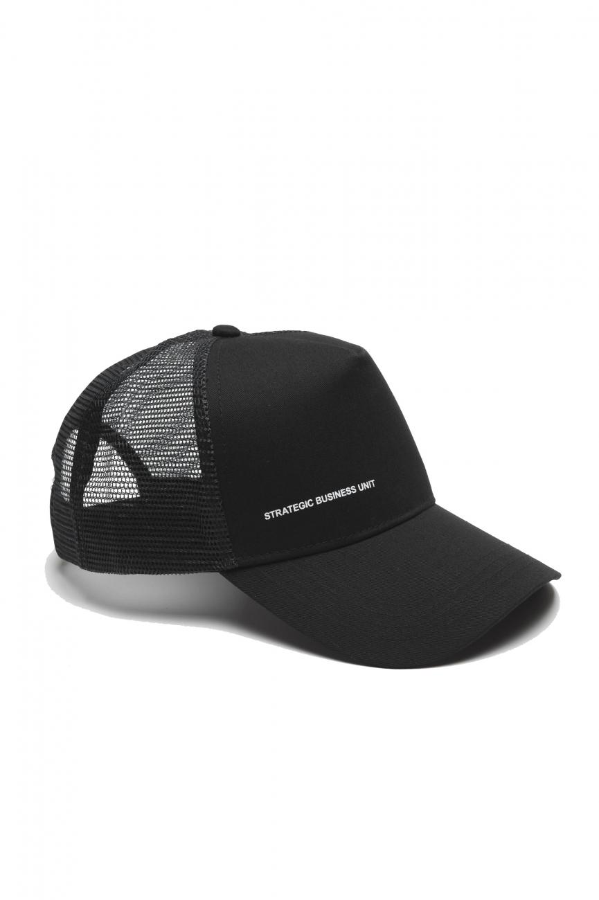 SBU 01791_19AW Classic cotton trucker cap black 01