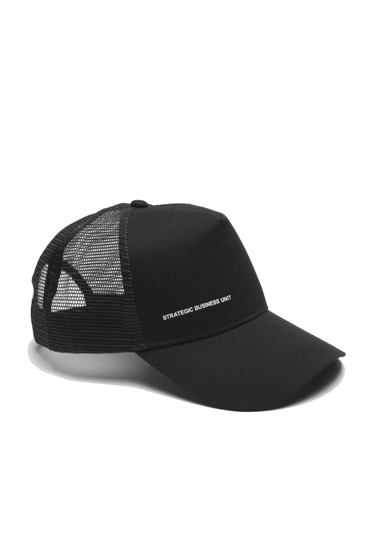 SBU 01791_19AW Trucker cap classico di cotone nero 01