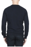 SBU 01795_19AW Hand printed crewneck navy blue sweatshirt 04