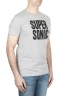 SBU 01798_19AW T-shirt mélangé gris à col rond imprimé à la main 02