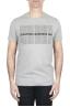 SBU 01801_19AW T-shirt girocollo grigia melange stampata a mano 01