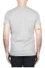 SBU 01801_19AW Camiseta gris mélange de cuello redondo estampado a mano 04