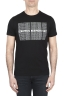 SBU 01802_19AW Round neck black t-shirt printed by hand 01