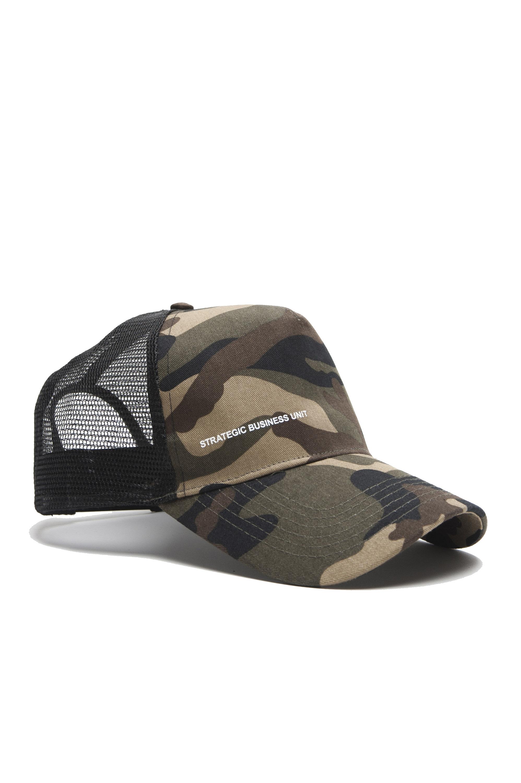 SBU 01806_19AW Classic cotton trucker cap camouflage green 01