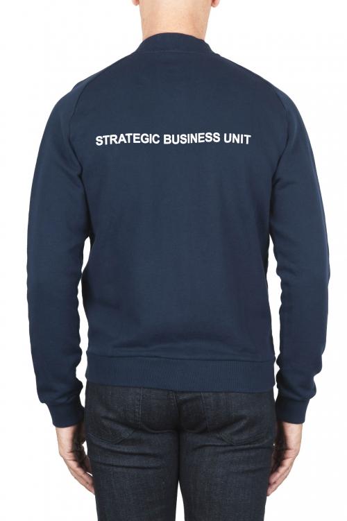SBU 01462_19AW Sudadera bomber jersey de algodón azul 01