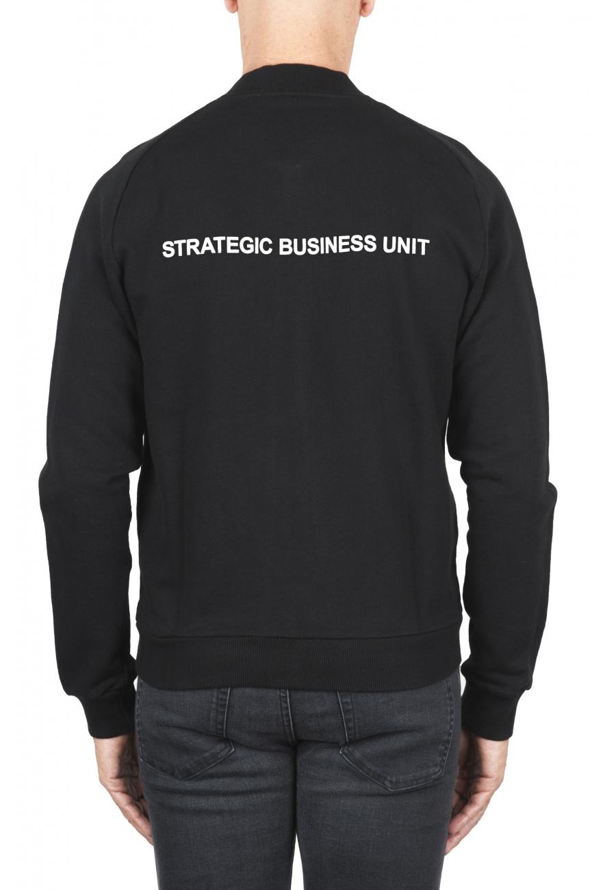 SBU 01463_19AW Black cotton jersey bomber sweatshirt 01