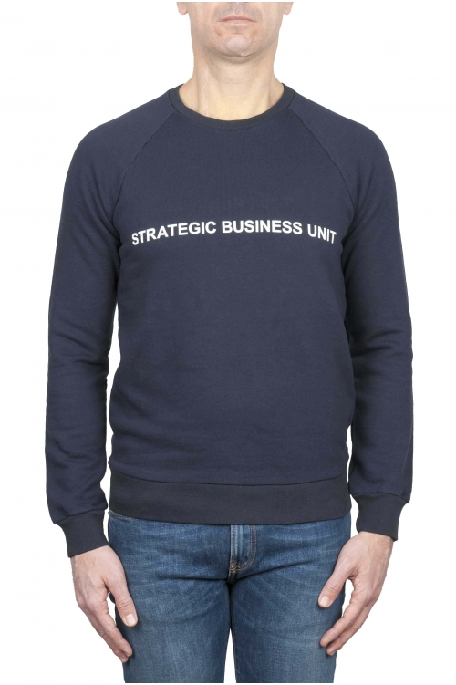 SBU 01466_19AW Felpa girocollo Strategic Business Unit con logo stampato 01