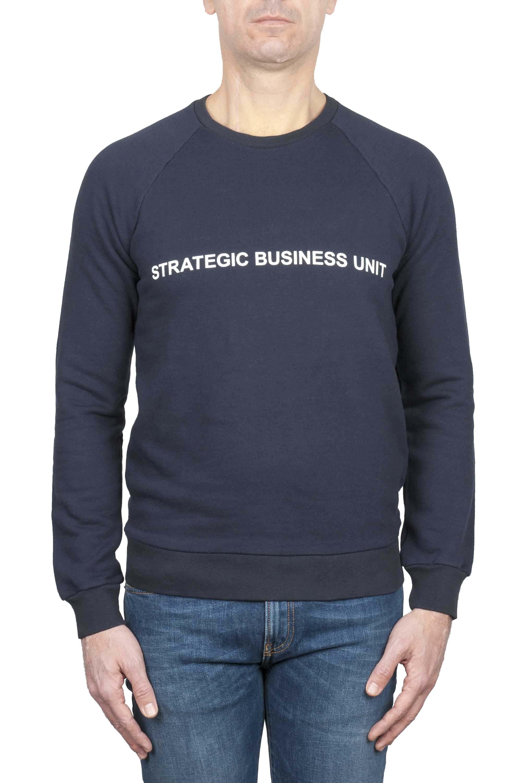 SBU 01466_19AW Felpa girocollo Strategic Business Unit con logo stampato 01