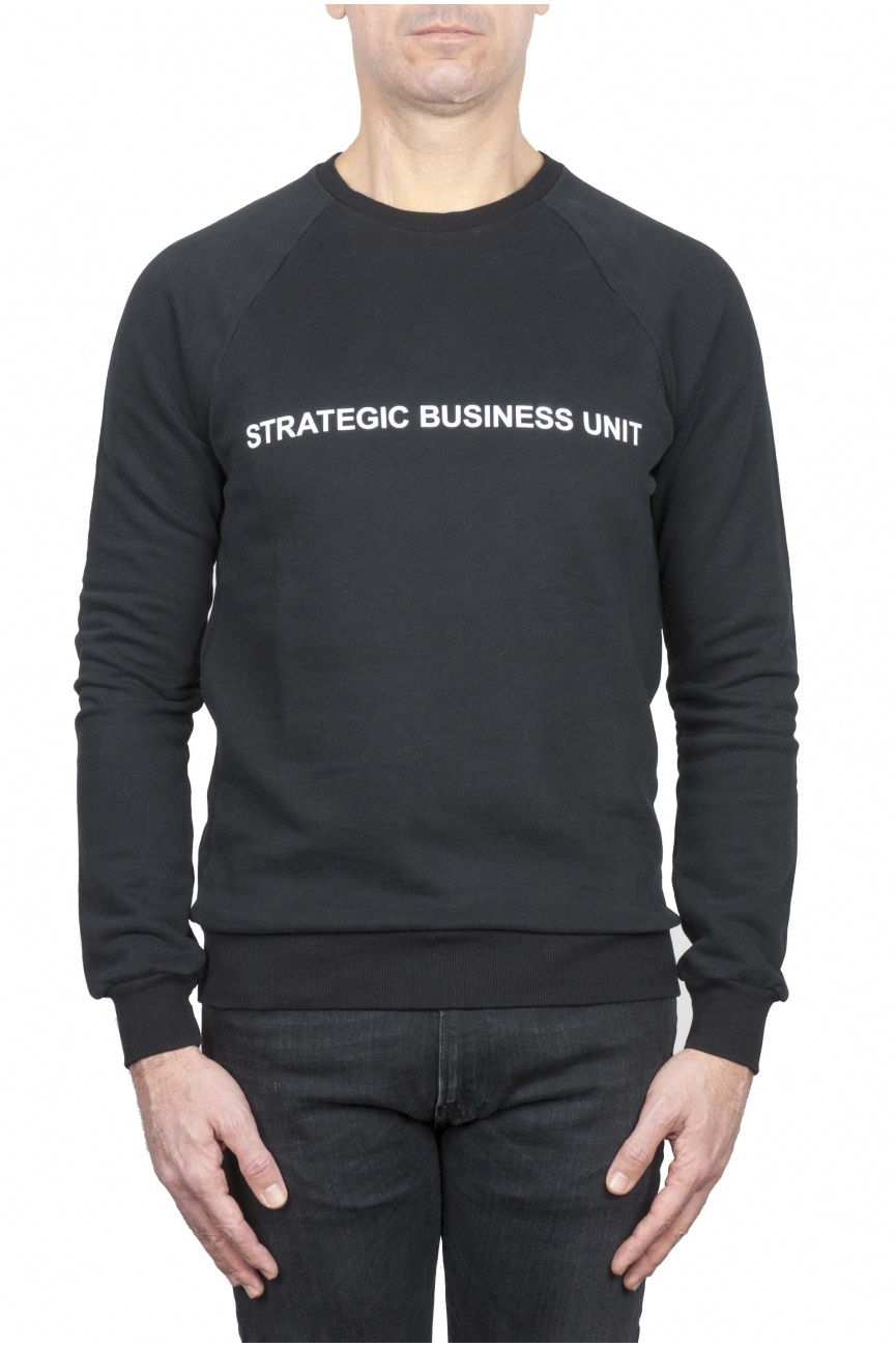 SBU 01467_19AW Felpa girocollo Strategic Business Unit con logo stampato 01