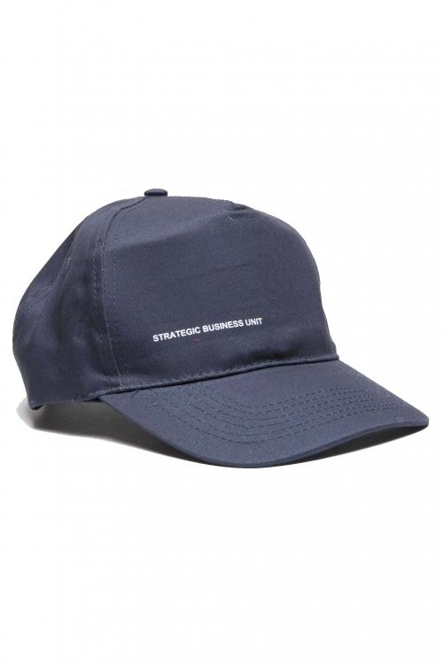SBU 01187_19AW Clásica gorra azul de beisbol con visera 01
