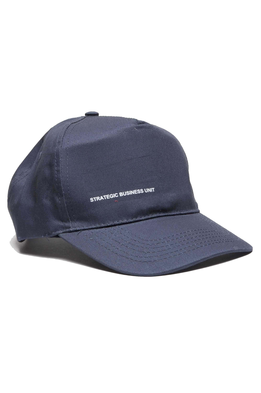 SBU 01187_19AW 古典的な綿の野球帽青に 01